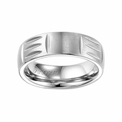 ArtCarved 7mm White Tungsten Carbide Ring with Cuts