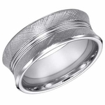 ArtCarved 9mm Concave Tungsten Carbide Ring