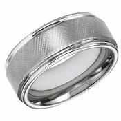 ArtCarved 9mm Tungsten Carbide Florentine Ring