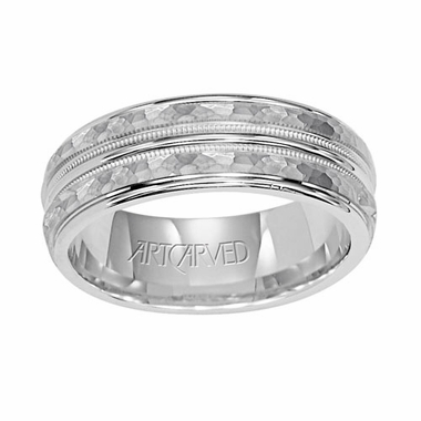 ArtCarved Abington 6mm 14K White Gold Ring
