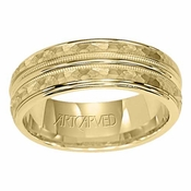 ArtCarved Abington 6mm 14K Yellow Gold Ring