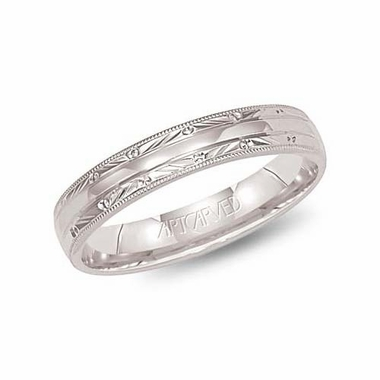 ArtCarved Adair 4mm 14K White Gold Ring