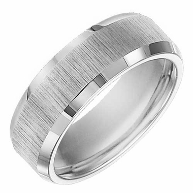 ArtCarved Adams 8mm Tungsten Carbide Ring