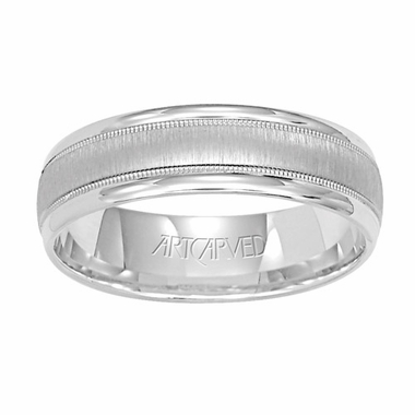 ArtCarved Addison 6mm 14K White Gold Ring