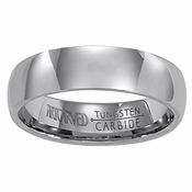 ArtCarved Alliance 6mm Plain Round Profile Tungsten Carbide Wedding Band