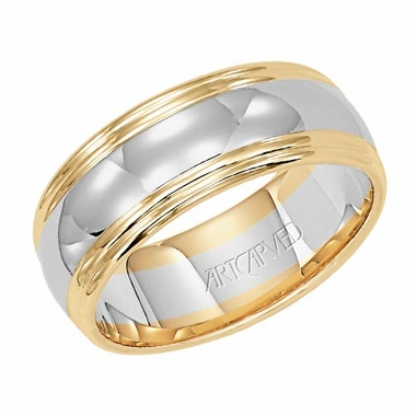 ArtCarved Alluring 7.75mm 14K Gold True Two Tone Ring