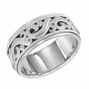 ArtCarved Ardent 7.5mm 14K White Gold Ring