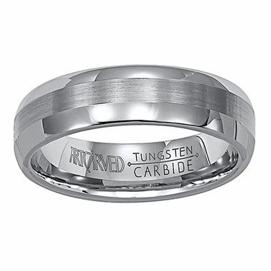 ArtCarved Aurora 6mm Dual Finish Tungsten Carbide Wedding Band