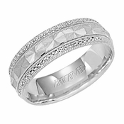 ArtCarved Beloved 6mm 14K White Gold Ring