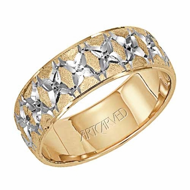 ArtCarved Beyond 7mm 14K Gold Two Tone Ring