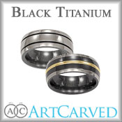 ArtCarved Black Titanium Bands