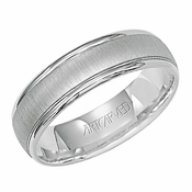 ArtCarved Brigata 6mm 14K White Gold Ring