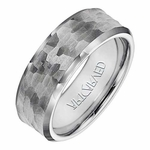 ArtCarved Bryant 8mm Hammered Tungsten Carbide Ring
