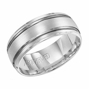 ArtCarved Calloway 8mm 14K White Gold Ring