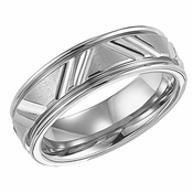 ArtCarved Calvert 7mm White Tungsten Carbide Ring