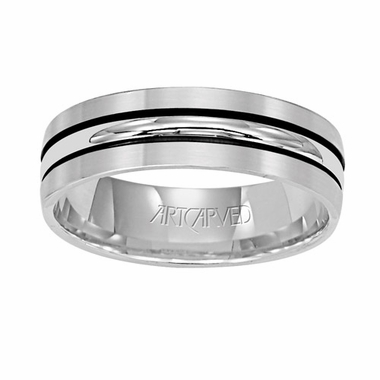 ArtCarved Castle 6mm 14K White Gold Ring