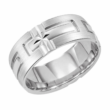 ArtCarved Cathedral 7mm 14K White Gold Ring
