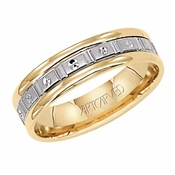 ArtCarved Class Act 5.5mm 14K Gold True Two Tone Ring