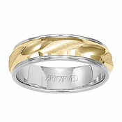 ArtCarved Contours 6mm 14K Reverse True Ring
