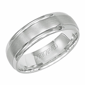 ArtCarved Corinthian 6mm 14K White Gold Ring