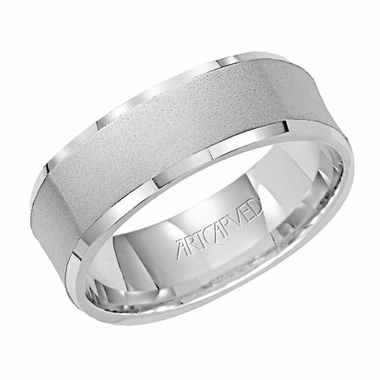ArtCarved Coronado 7mm 14K White Gold Ring
