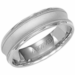 ArtCarved Cortini 6mm Palladium Ring with Milgrain