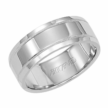 ArtCarved Covenant 7.5mm 14K White Gold Ring