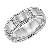 ArtCarved Crowning Touch 6mm 14K White Gold Ring