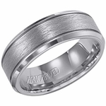 ArtCarved Curtis 7.5mm Tungsten Carbide Ring with Beveled Edges