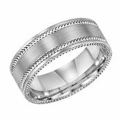 ArtCarved Edgewood 7mm 14K White Gold Ring