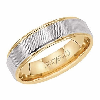 ArtCarved Elusive 5.75mm 14K Gold True Two Tone Ring