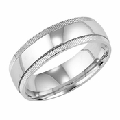 ArtCarved Enchantment 6.5mm 14K White Gold Ring