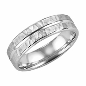 ArtCarved Entrust 6mm 14K White Gold Ring