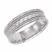 ArtCarved Fitzgerald 6.5mm 14K White Gold Ring