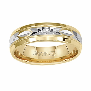 ArtCarved Fondest 6mm 14K Two Tone Ring