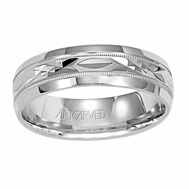 ArtCarved Fondest 6mm 14K White Gold Ring