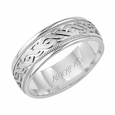 ArtCarved Granville 6mm 14K White Gold Ring