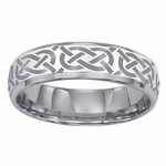 ArtCarved Grecian 6mm Lasered Celtic Knot Tungsten Carbide Wedding Band