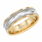ArtCarved Hammond 6mm 14K Gold True Two Tone Ring