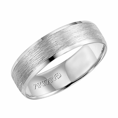 ArtCarved Harlan 6mm 14K White Gold Ring