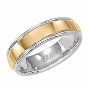 ArtCarved Harrison 6mm 14K Gold Reverse True Ring