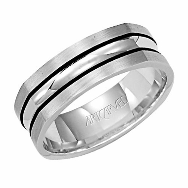 ArtCarved Hayden 7mm 14K White Gold Ring