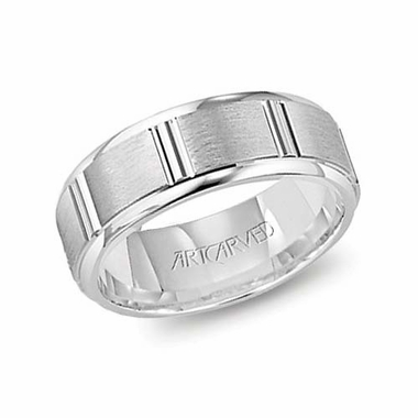 ArtCarved Hendon 6.5mm 14K White Gold Ring