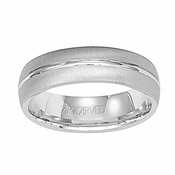 ArtCarved Hudson 6mm 14K White Gold Ring