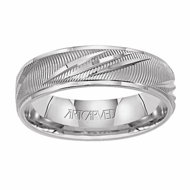 ArtCarved Illusion 6mm 14K White Gold Ring