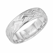 ArtCarved Incarnation 6mm 14K White Gold Ring