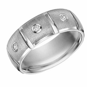 ArtCarved Justin Tungsten Carbide Diamond Ring