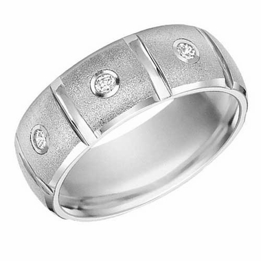 ArtCarved Justin White Tungsten Carbide Diamond Ring