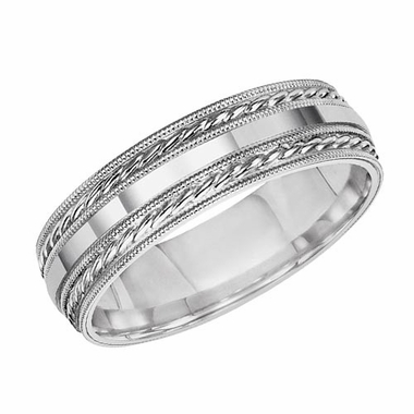 ArtCarved Kingston 6mm 14K White Gold Ring