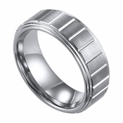 ArtCarved Landon 8mm Slotted Tungsten Carbide Wedding Band